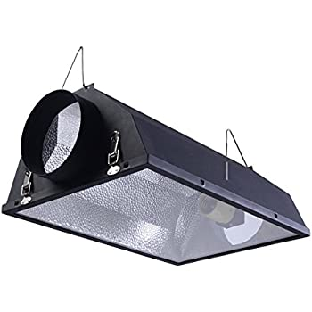 "Giantex 6"" Air Cooled Hood Reflector Hydroponics Light Grow Hydroponic w/ Glass Cover"