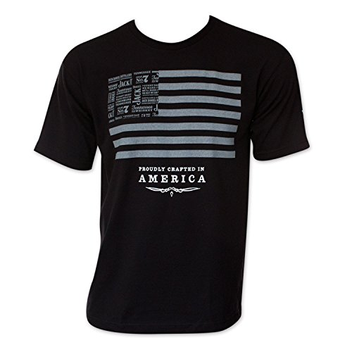 Jack Daniels American Flag T-Shirt (XL, Black)