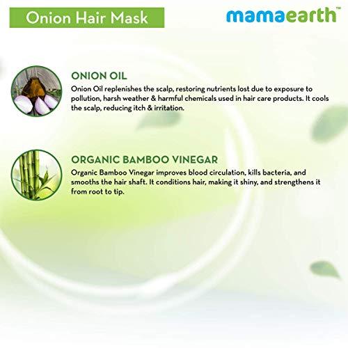 Mamaearth's Onion Hair Mask for Hairfall Control with Organic Bamboo Vinegar 200gm
