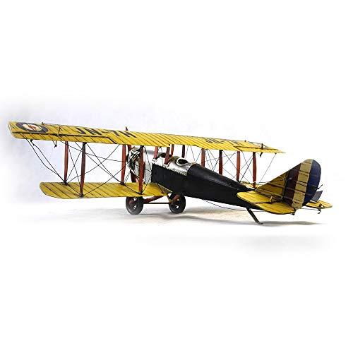 VJUKUBWINE Antique World War I Yellow Curtis Jane Plane - Fine Edition Model Tinplate Hand Made Retro Iron Art Home Car Decoration Decoration Arrangement Photography Props 6846.516cm by VJUKUBWINE (Image #3)