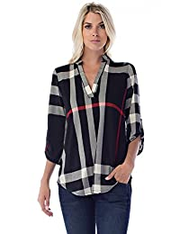 Betsy Red Couture Women And Plus Size Notch Neck Tunic Top