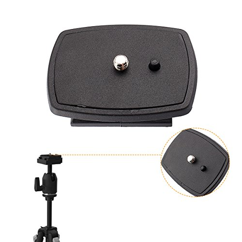 Yosoo Travel Tripod Head connect Kit DSLR SLR Replacement Rapid Connect Mounting Plate Platform Quick-Release Plates Systems for Velbon CX-444, CX-888, CX-460, CX-460mini, CX-470, CX-570, CX-690, DF-50 SONY Tripods VCT-D580RM, (Rapid Connect Mounting Plate)