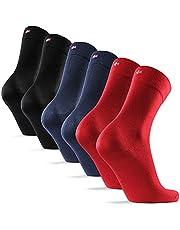 DANISH ENDURANCE Zachte Bamboe Sokken voor Mannen en Vrouwen, 6-Pak, Superzacht, Ademend, Klassieke Stijl, Dagelijkse Slijtage, Premiumkwaliteit, voor Herfst, Winter, Zwart