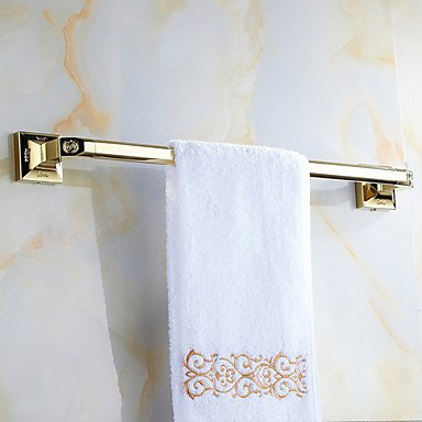 AMEA Mordern Gold Color Luxury Brass Rose Pattern 4pcs Bathroom Accessory Set by AMEA (Image #4)