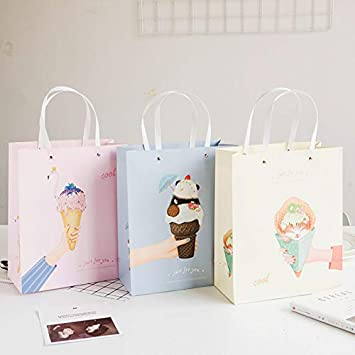 Amazon.com: Chitop - Bolsa de papel con asas creativas para ...
