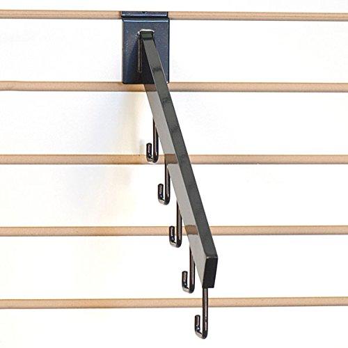 Count of 100 New Retails Black 5-Hook Slatwall Waterfall 16'' long