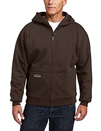 Arborwear Men's Double Thick Full Zip Sweatshirt, Chestnut, Small
