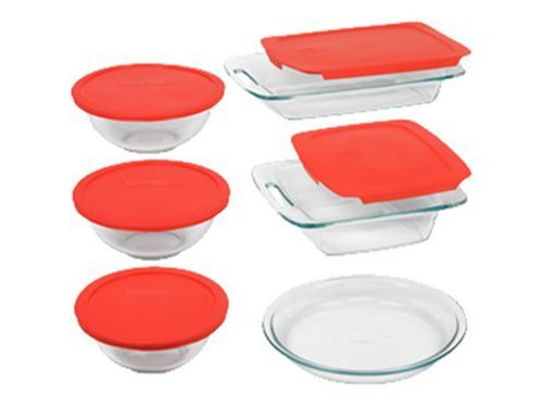 Pyrex Easy Grab 11-Piece Glass Bakeware and Food Storage Set World Kitchen (PA) 1093841