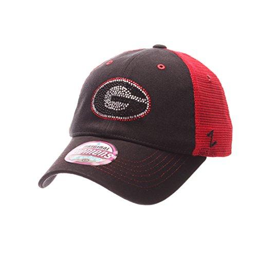 NCAA Georgia Bulldogs Adult Women Flirt Women's Hat,Adjustable,Red