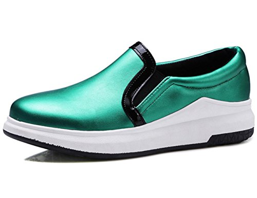 Donne YCMDM donne spesse calze tacchi alti scarpe Carrefour scarpe grandi dimensioni 40-43 scarpe singole , green , 43