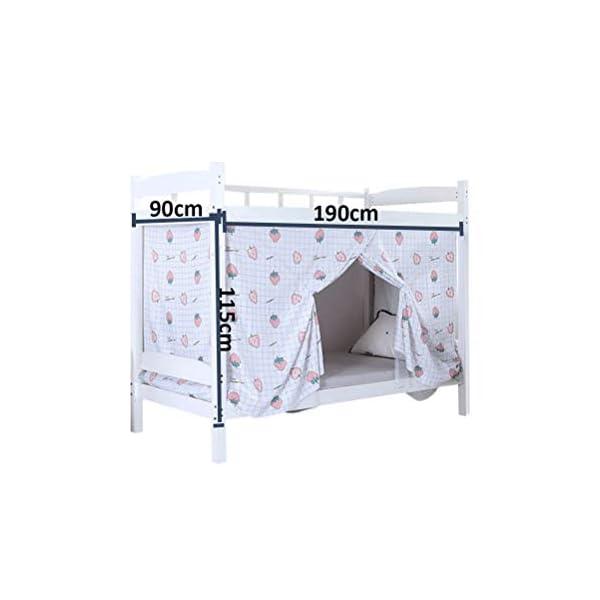 ZXYSR Dormitorio Zanzariera, Letto A Castello Cifratura Reti Letto Baldacchino Quadrato Dormitorio per Studenti… 6 spesavip
