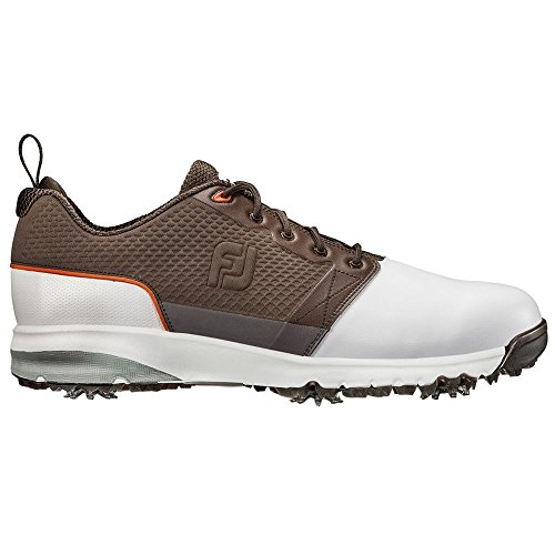 FootJoy New Mens Golf Shoe ContourFIT Medium 11.5 White/Brown from FootJoy
