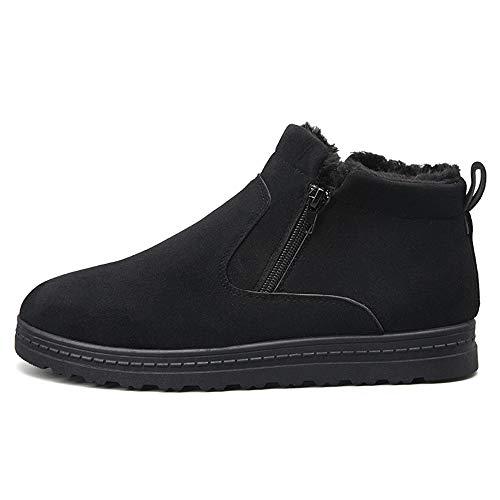 Polaire Bottes Chaussures La Coton Noir Laine À Neige Hiver Maison Pour Classiques Fausse Fermeture Latérale De En Avec Glissière Hommes Chenjuan L'intérieur 5TfHn85