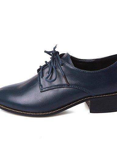 5 Eu42 Redonda Cn43 8 Tacón De Punta Casual Zapatos Blue Oficina Uk7 Uk8 5 Azul Negro us9 5 Exterior us10 Plano Blue Trabajo Mocasines Y Mujer 10 5 Cn42 Eu41 Zq Semicuero 1qHxYn
