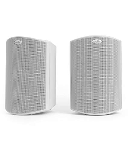 Polk Audio Atrium 4 Outdoor Speakers with Powerful Bass (Pair, White) | All-Weather Durability | Broad Sound Coverage | Speed-Lock Mounting System ()
