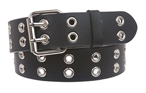 Two Row Grommets Fashion Belt Size: S/M - 32 Color: - Row Grommets Two