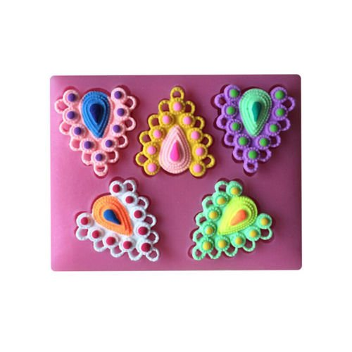 baking-moulds-3d-gemstone-heart-shaped-fodant-cake-molds-soap-chocolate-candy-cookie-silicone-fondan