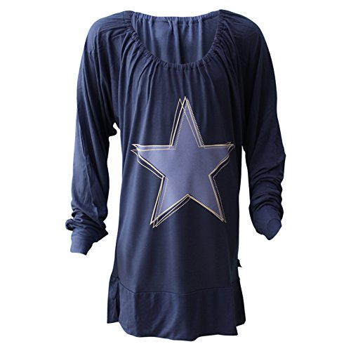 Arizona Mädchen Shirt Langarm Blau Motiv Stern Gr. 164
