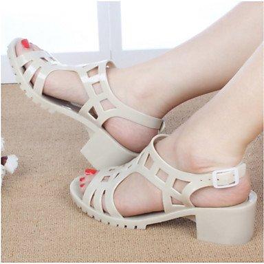 RUGAI-UE Moda de Verano Mujer sandalias casuales zapatos de tacones PU Confort,verde,US4-4.5 / UE34 / REINO UNIDO2-2.5 / CN33 Almond