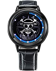 Wildforlife Anime One Piece Straw Hat Pirates Luffy Collector's Edition Touch LED Watch