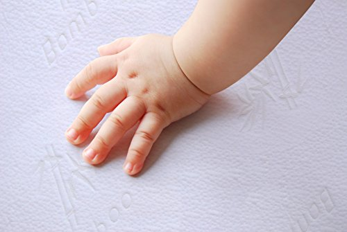 iLuvBamboo Crib Protector - Waterproof - Soft Jacquard Fitted Topper – Best for Training &