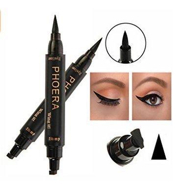 IMBSB Eyeliner liquido per donne nero + timbro per occhi matita Trucco per trucco Eyeliner per durare strumenti cosmetici Maquillage Impermeabile