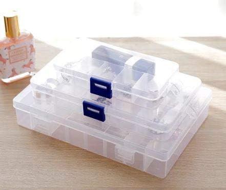 EUROXANTY® Caja Organizador Ajustable | Caja de Almacenaje de Plástico | Organizador de Tornillos y Joyas | Varios Compartimientos | Gran Resistencia | Separadores Extraíbles: Amazon.es: Hogar