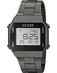 GUESS Mens Stainless Steel Digital Casual Watch, Color: Black (Model: U1039G2)
