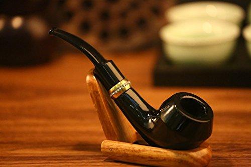 VT BigHome Ebony Wood bucket Vintage portable men's health Smoking Pipe With 7 pipe tools p1301 by VT BigHome (Image #2)