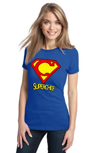 SUPER-CHEF! Ladies' T-shirt / Funny Cooking Humor, Super Chef Tee Shirt
