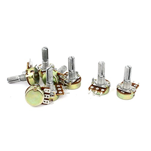 Uxcell a15011600ux0239 2 Sets 1K 2K 5K 10K Ohm Linear Taper Rotary Potentiometer Pot (Linear Potentiometer)