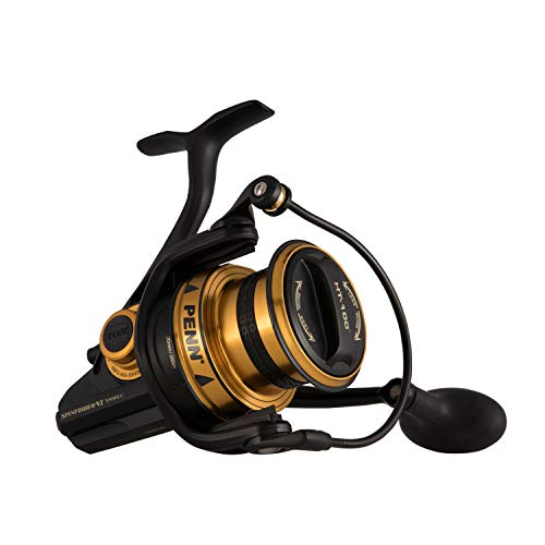 Penn Spinfisher VI Long Cast Spinning Fishing Reel, Black Gold, 5500 Black Gold Spinning Reel
