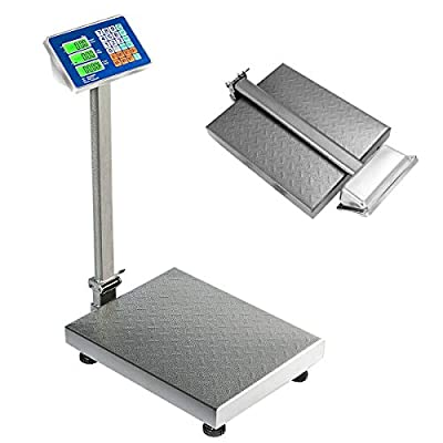 Digital Scale 660 lbs Maximum Capacity Folding & Portable Design AC/DC Supply & Power Saving and Extra-Long Life Rechargeable Battery for Warehouse, Factories, Supermarket and Other Wholesale Market