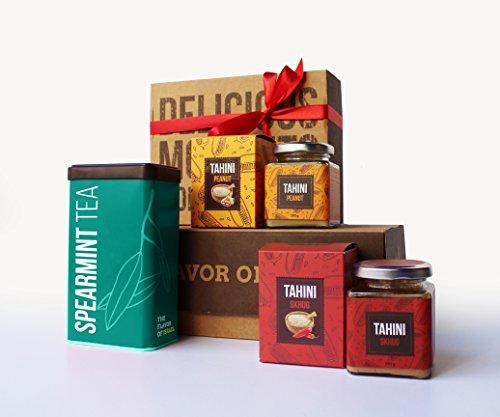 Yoffi-Delicious-Gift-Basket-Organic-Spearmint-Tea-2-Tahini-Jars