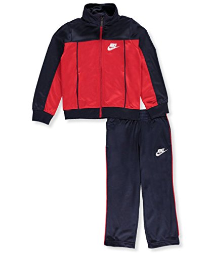 Nike Little Boys' 2-Piece Tricot Tracksuit (Sizes 4-7) - obsidian, 6