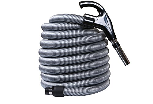 (OVO 35ft UNIVERSAL LOW-VOLTAGE CENTRAL VACUUM HOSE, Black & Grey -)