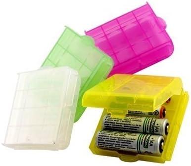 MANGO-4X Caja Plástico Estuches pa AA/AAA Batería Pila Nueva: Amazon.es: Bricolaje y herramientas