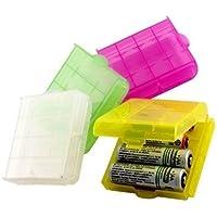 MANGO-4X Caja Plástico Estuches pa AA/AAA Batería Pila