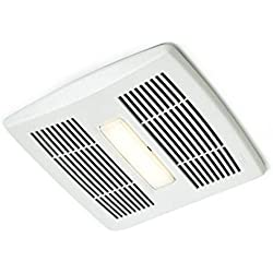 Broan AE110L Invent Energy Star Qualified Single-Speed Ventilation Fan with LED Light, 110 CFM 1.0 Sones