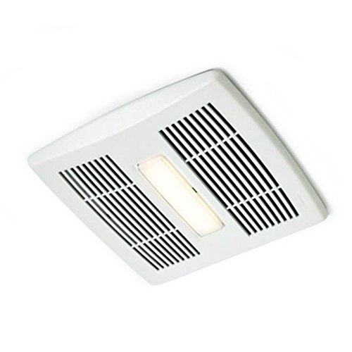 Broan AE110L Invent Energy Star Qualified Single-Speed Ventilation Fan with LED Light, 110 CFM 1.3 Sones by Broan