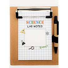 Science Party Favors Clipboard Notepad -12 Pack Mad Scientist Theme Party Supplies Decorations Kids Lab Notes Blank Notebook and Pen