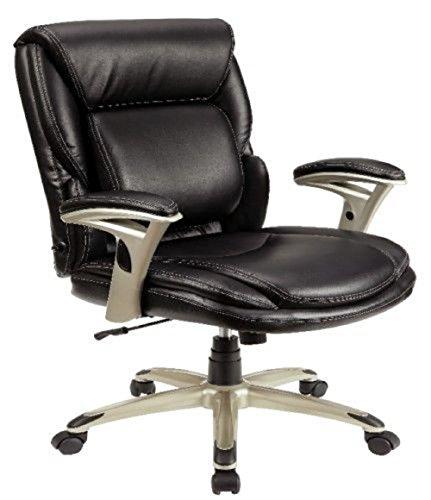 Serta Ergo Inifinite Lumbar Support Chair-48464, Black, 250lbs Cap.