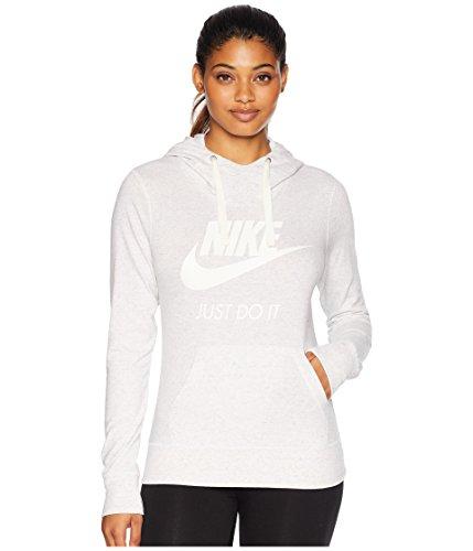 Nike Womens Gym Vintage HBR Hoodie Birch Heather/Sail 914414-051-Size Large