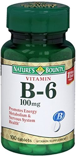 Nature's Bounty Vitamin B-6 100 mg Tablets 100 Tablets (Pack of 7)