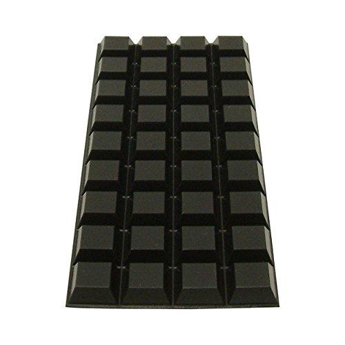 3M Bumpon SJ5023 Black Bumper/Spacer Pad - Square Shaped Bumper - 0.81 in Width x 0.3 in Height - 67388 [PRICE is per PAD]