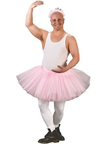 Fancy Me adulte pour hommes Rose BALLERINE Brame jupe tutu costume déguisement - Rose, Rose, One Size