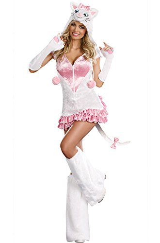 [Mememall Fashion Pretty Kitty Adult Halloween Costume] (Pirate Kitty Costume)