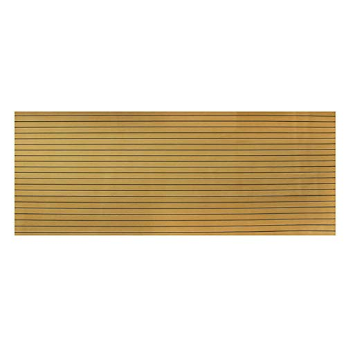 Anddoa EVA Foam Deep Yellow with Black Strip Boat Flooring Faux Teak Decking Sheet Pad - #001