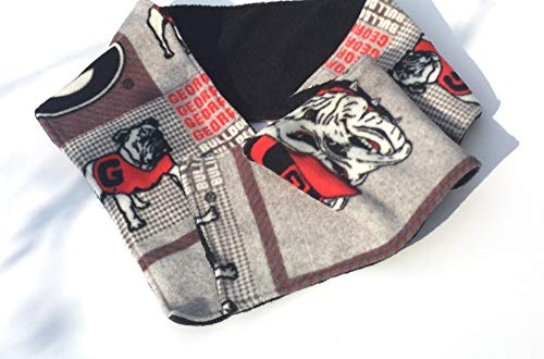 Georgia Bulldogs theme double fleece scarf/UGA scarf/Gifts for Him/Gifts for - Fleece Bulldogs
