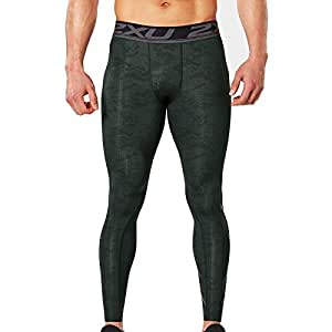 2XU Mens Print Accelerate Compression Sports Training Gym Leggings Pants - XS